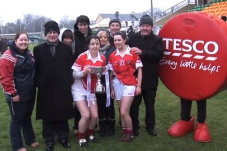 Donaghmoyne captain Catriona McConnell and her family.