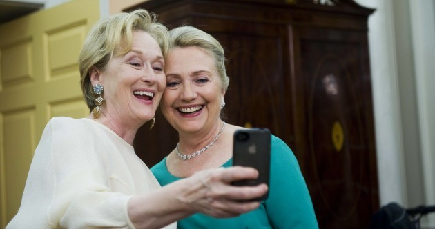 Pic: Hillary Clinton and Meryl Streep are BFFs