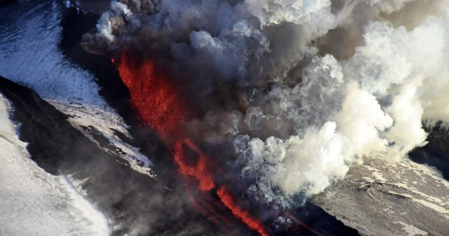 Photos: Thar she blows - Russian volcano erupts for first time in 36 years