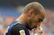 Sneijder: I'm not playing, so I'm not signing