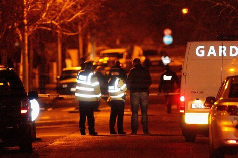 The scene on Furry Park Road where Eamon Kelly was gunned down earlier today