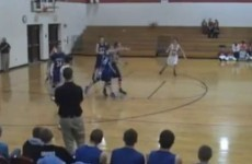 VIDEO: It's just an incredible full-court, discus-style, high school buzzer-beater
