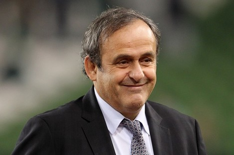 Platini was in Dublin recently to watch Ireland's friendly game with Greece.