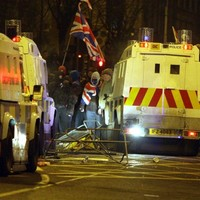 Four arrested in Antrim following violent protest