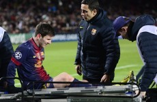 2012 can't end like this: Messi departs injured