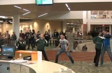 Spot the odd one out in this flash mob video
