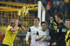 VIDEO: German referee says sorry after red card and penalty costs Dortmund
