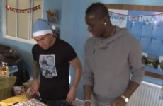 VIDEO: Add wrapping presents to the list of things Mario Balotelli can't do