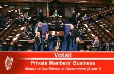 Dáil votes down Sinn Féin's motion of no confidence in the government