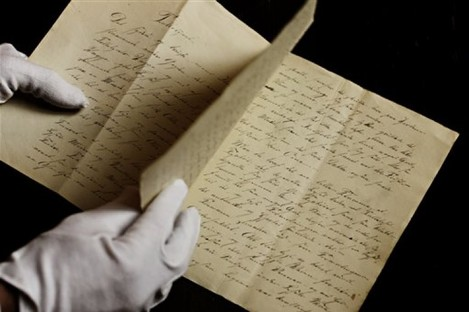The manuscript of a fairy tale by Hans Christian Andersen.