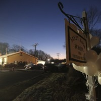 Connecticut school shooter 'forced his way in'