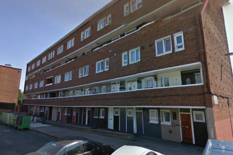 The flat complex at Constitution Hill in Dublin 7, where a man in his late 50s died in a fire last night.