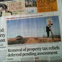 TD denies breaking litter laws on Irish Times front page