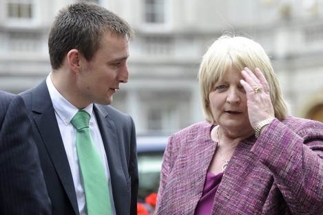 Labour senators James Heffernan and Marie Maloney: Heffernan is among a number of senators who say they are not yet sure of their vote on the Social Welfare Bill.