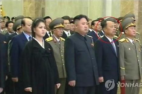 Kim Jong-Un and wife Ri Sol-Ju, at commemoration for Kim Jong-Il.