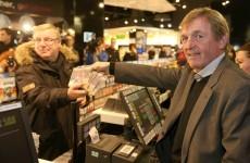Kenny Dalglish sells the first copy of Hillsborough single
