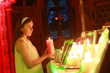 Light bearer Ali Kenny (age 13) at the Christmas Celebration of Light