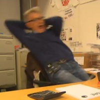 VIDEO: The most easily scared man in the world?