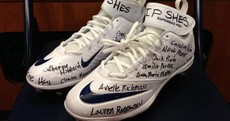 Titans RB Chris Johnson remembers school shooting victims by writing their names on his cleats