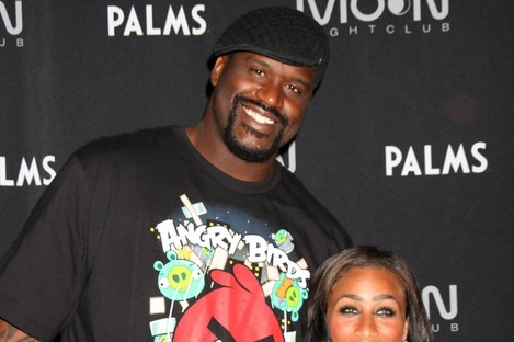 Shaquille O'Neal and girlfriend Nicole Alexander.