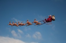 And he's off! Santa has left the North Pole