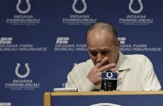 Indianapolis Colts coach Chuck Pagano went back to work for the first time yesterday