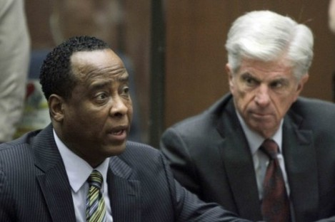 Dr Conrad Murray, left, appeared in court in LA on 25 January, 2011.