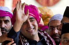 Bhutto son launches political career