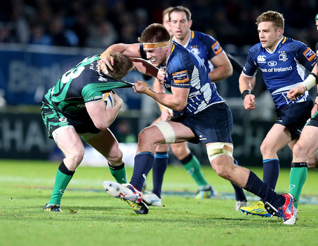 Dominic Ryan and Eoin Griffin tussle at the RDS.