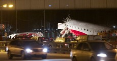 VIDEO: Dashboard camera captures Russian plane's crash into motorway