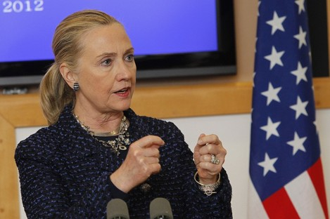 Hillary Clinton in Dublin earlier this month