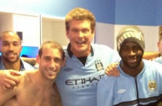 So, Manchester City celebrated their latest win with The Hoff