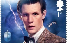 Doctor Who zooms through time and space... on a stamp
