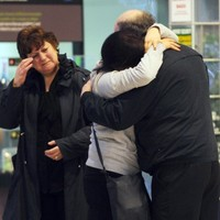 Pics: Emotional post-Christmas goodbyes at Dublin Airport this morning