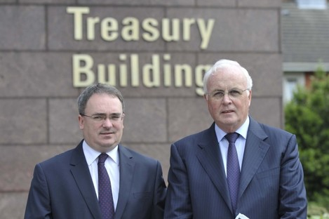 NAMA chief executive Brendan McDonagh and chairman Frank Daly: pleased with 2012.