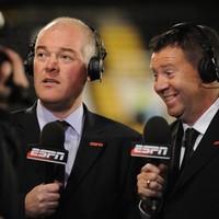 ESPN commentator Jon Champion earns 'a talking to' for Suarez cheat talk