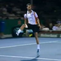 How about this piece of ridiculousness from French tennis player Benoit Paire?