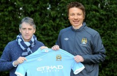 Meet Manchester City's new signing... Jamie Oliver