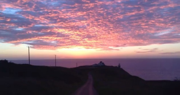 Did you see this morning's beautiful dawn?