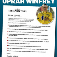 David Walsh writes open letter to Oprah that includes questions for Lance Armstrong