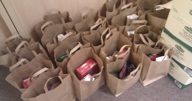 PICS: Students' unions hand out food bags as grant crisis continues