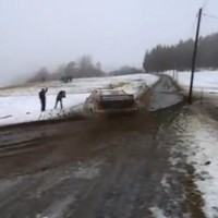 VIDEO: Rally driver's car goes out of control