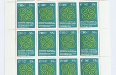 Here's how the commemorative stamp for Ireland's EU presidency looks