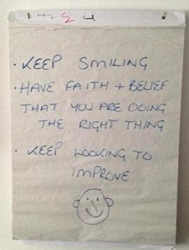 'Keep smiling' -- the message sacked Nigel Adkins left for his former Southampton charges