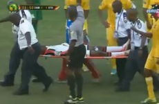 Think your Monday is bad? At least you didn't get sent off while lying on a stretcher