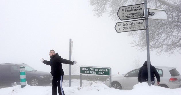 Photos: Here's how the Dublin Mountains looked in the snow today