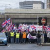 Eleven arrested for blocking roads in Northern Ireland protests