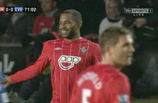When you gotta go... Jason Puncheon forced to leave the pitch as nature calls