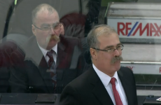 Hockey coach is stalked by uncanny lookalike with impressive moustache