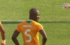 Yes, Didier Zokora's jersey does say 'Maestro' on the back of it